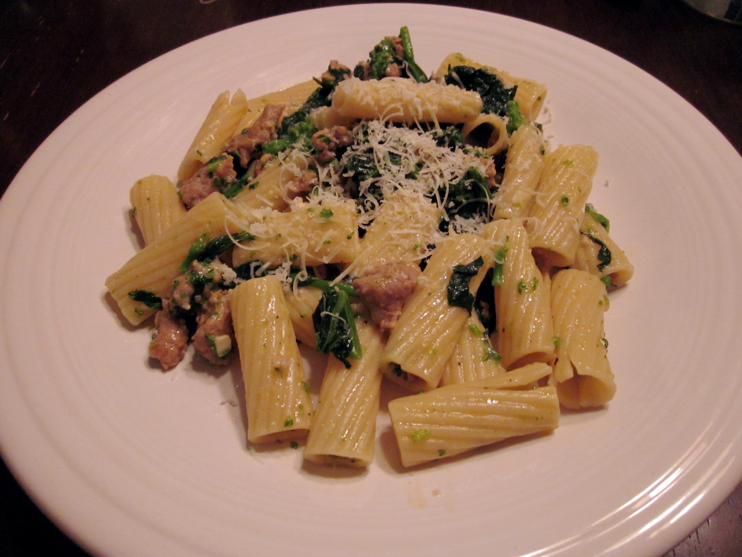 Broccoli Rabe & Sausage Rigatoni | flower city foodie
