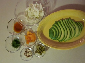 Fennel & Avocado salad, ingredients
