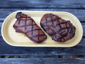 steaks resting