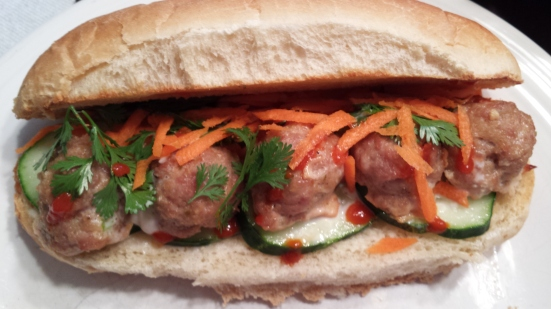 pork meatball bahn mi